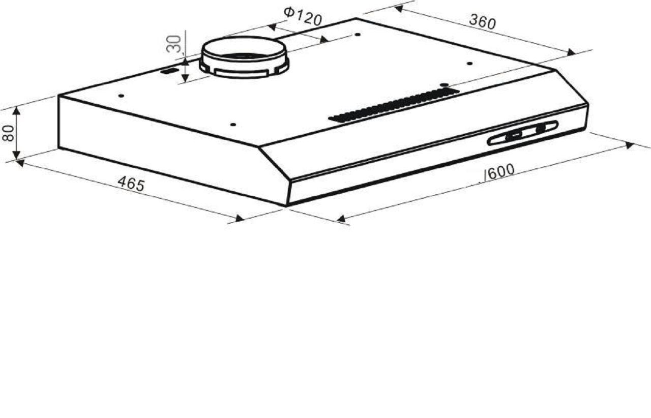 pkm ubh5000h dunstabzugshaube breite 60cm unterbauhaube flach unterschrankhaube ebay. Black Bedroom Furniture Sets. Home Design Ideas