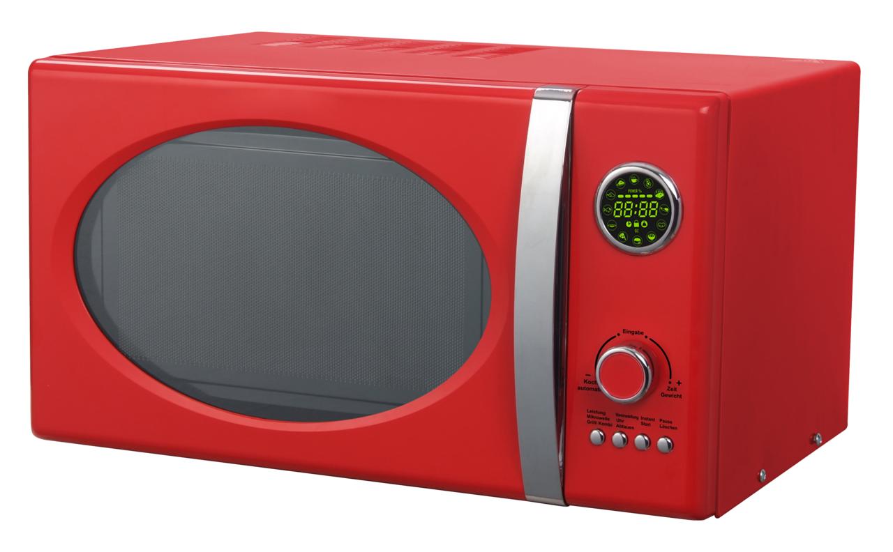 schaub lorenz mw823g fr red retro microwave 800watt. Black Bedroom Furniture Sets. Home Design Ideas