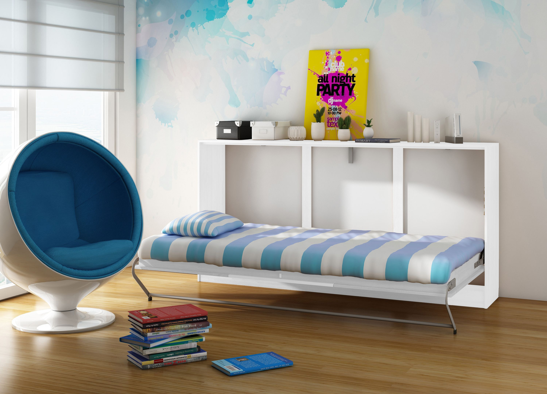 schrankbett smalu mit matratze wei g stebett klappbett funktionsbett wandbett ebay. Black Bedroom Furniture Sets. Home Design Ideas