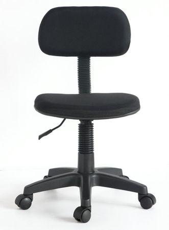 Bürostuhl schwarz Drehstuhl mit Rollen höhenverstellbar Wippmechanismus – Bild 2
