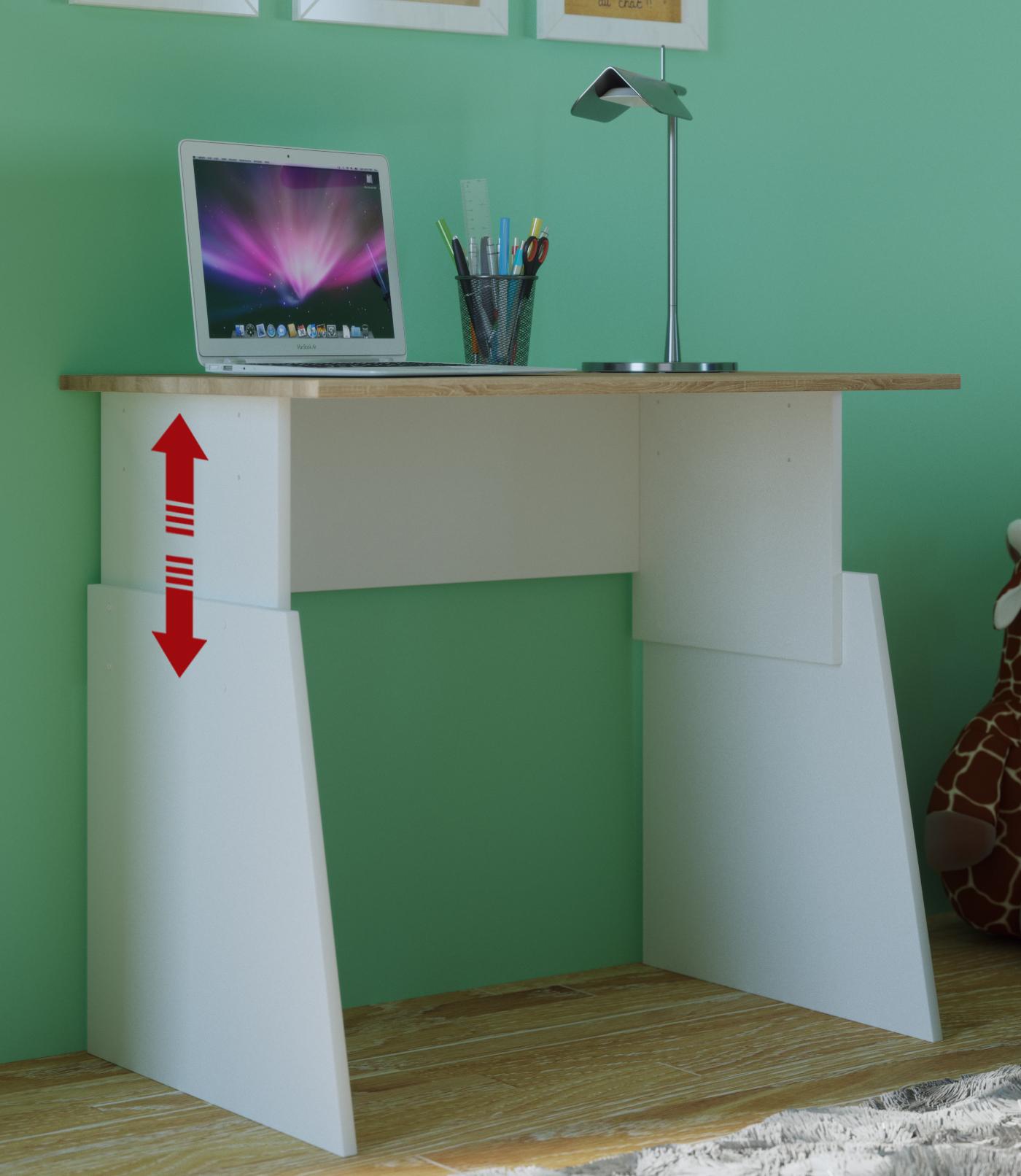 Schreibtisch Sonoma 80cm Breit Höhenverstellbar 55 75cm Computertisch
