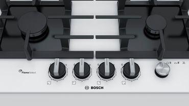 Bosch PPP6A2M90 Einbau Gaskochfeld weiß Gas 60cm Autark Glas Kochfeld – Bild 3