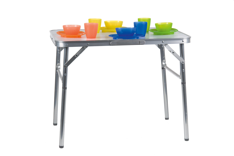 Détails sur Aluminium Table Pliante de Camping 75x55x60cm Valise Portable  Neuf