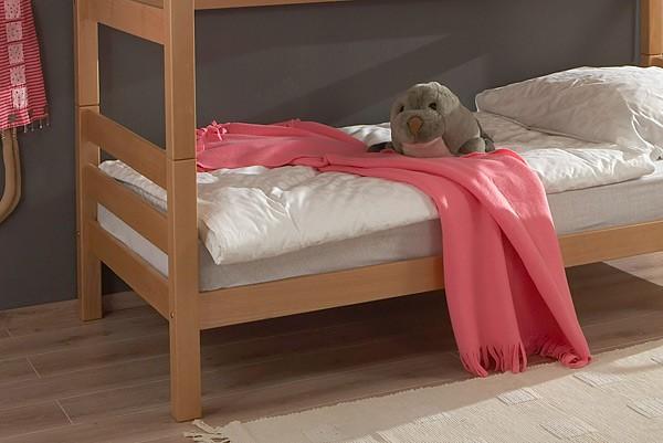Ticaa Etagenbett Bewertung : Ticaa etagenbett mit rutsche lupo buche massiv weiß motiv amazon