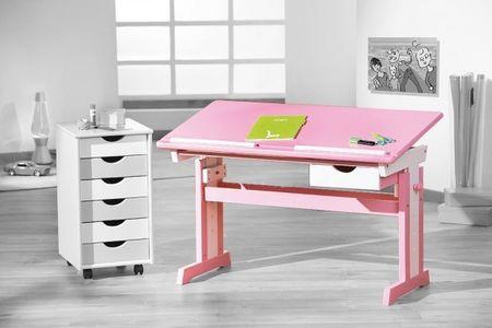 Kinderschreibtisch pink-weiß