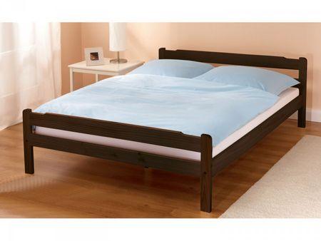 Doppelbett Kiefer massiv 140x200cm braun