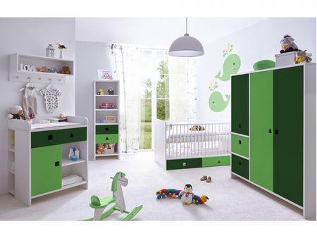 "TICAA Babyzimmer ""Cubo"" 5-teilig, 3-türig, verschied. Farben"