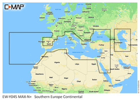 C-Map M-EM-Y045 Southern Europe Continental Max N+