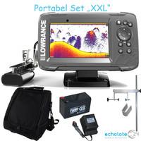 "Lowrance Hook2 5x Portabel Set ""XXL"" GPS HDI SplitShot – Bild 1"
