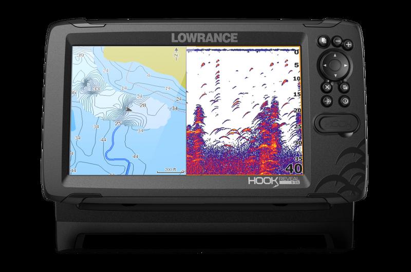 Lowrance HOOK REVEAL 7 HDI mit 83//200 kHz Echolot Geber Echolot Fischfinder