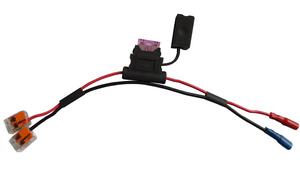E24 Schnellverbinder Kabel für Echolote an Batterien (mit Faston Steckern)