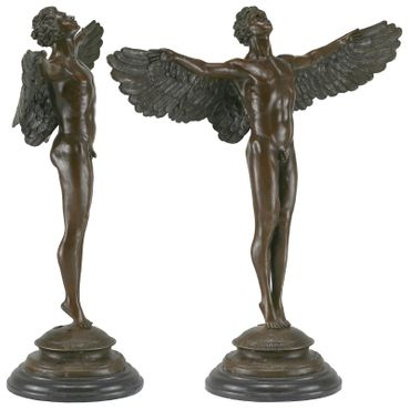Beautiful Naked Angel Man Bronze Figure Lost-Wax Casted – image 4