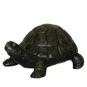 Pet turtle figure made out of cast iron for decoration