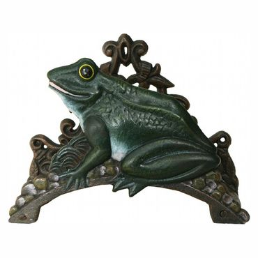Ancient frog hose holder with iron cast for garden  – image 1