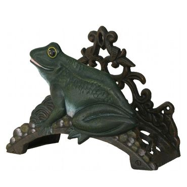 Ancient frog hose holder with iron cast for garden  – image 2