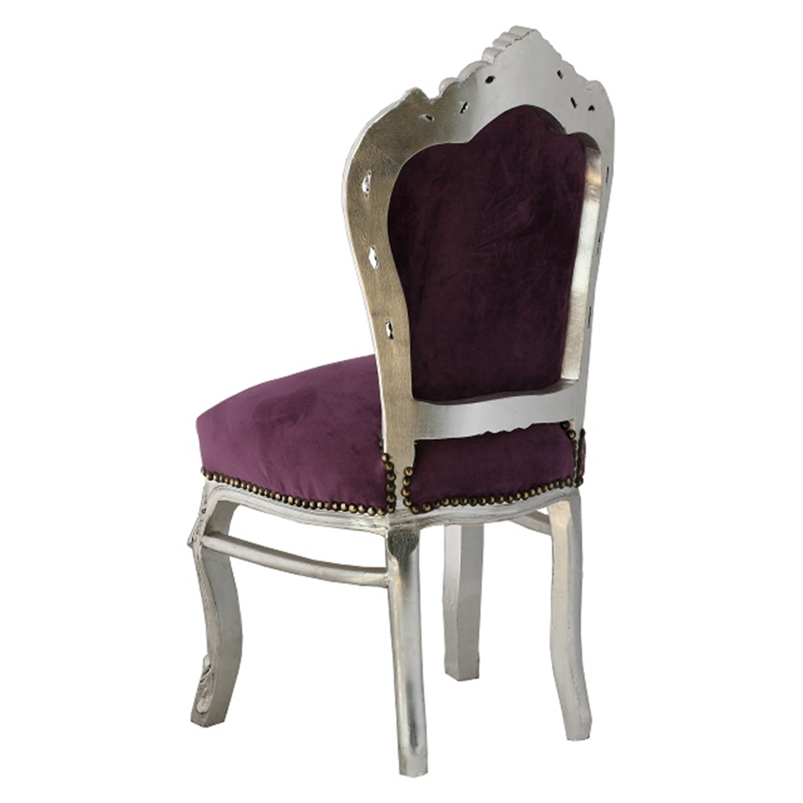 speisezimmer m bel essgruppe barockm bel st hle 6 st hle in violett lila silber. Black Bedroom Furniture Sets. Home Design Ideas