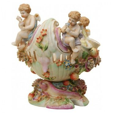 Angel travel on boat colourful ornaments shell elegant antique design bowl – image 2