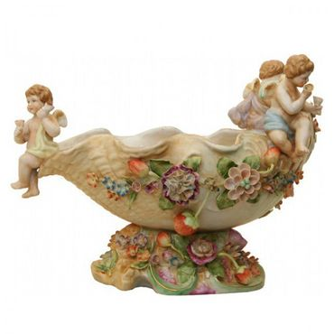 Angel travel on boat colourful ornaments shell elegant antique design bowl – image 4