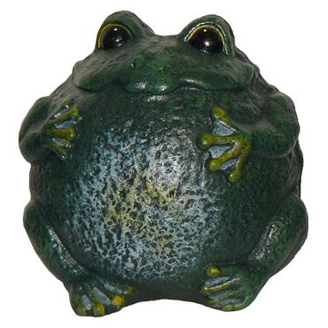 Green toad or frog sculpture figure for pond  – image 1