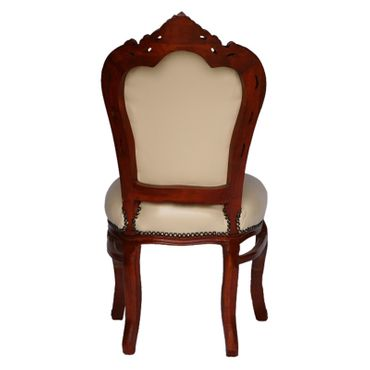 Faux leather chair antique style  French Louis XIV   – image 4