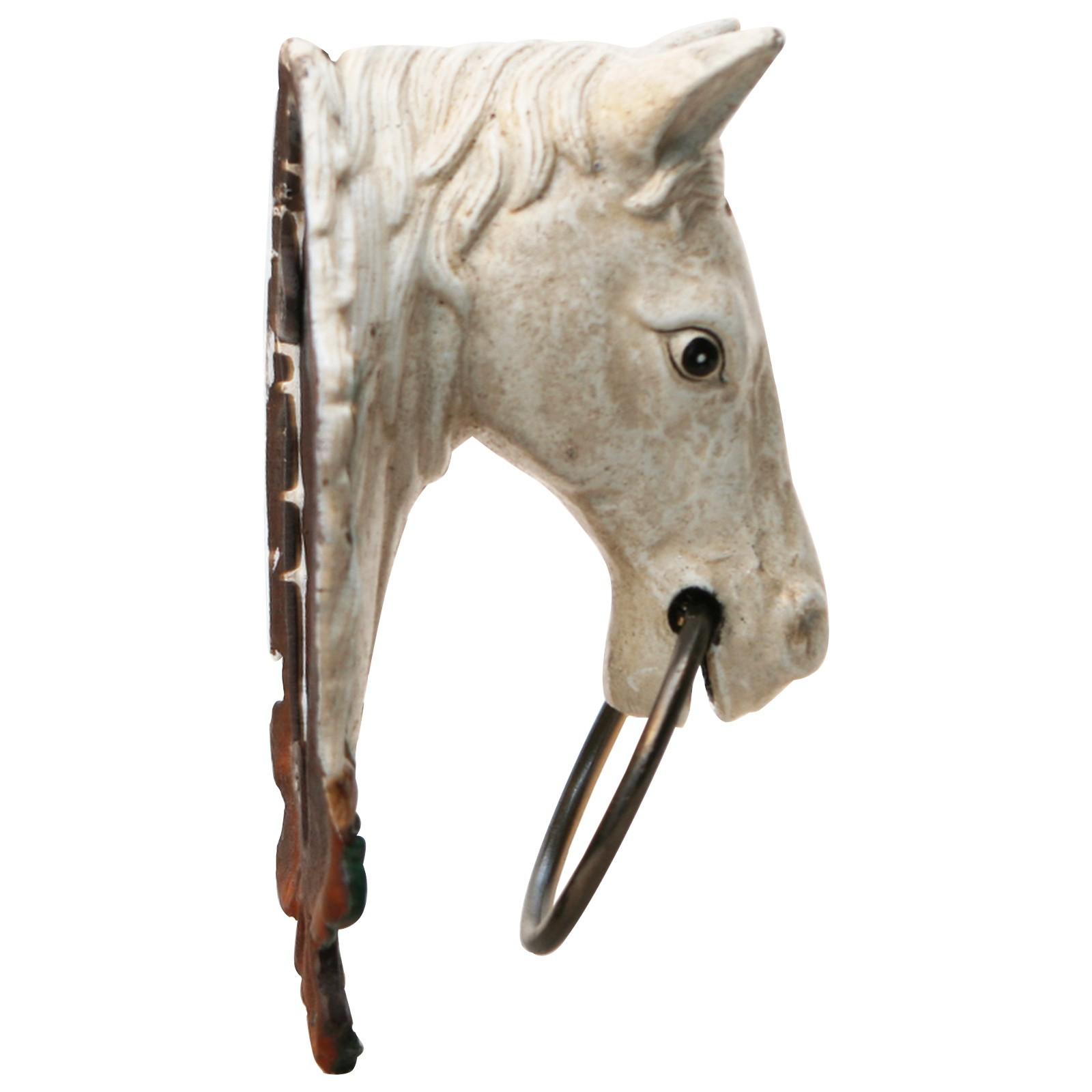 pferdekopf gusseisen schimmel pferd handtuchhalter pferdestall haus garten. Black Bedroom Furniture Sets. Home Design Ideas