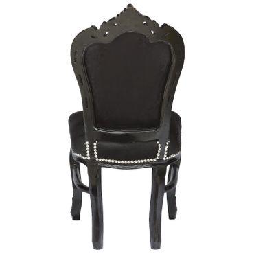 Günstige Essgruppe Esszimmerstühle Barock Design 4 Stühle Set Schwarz Gothik – Bild 5