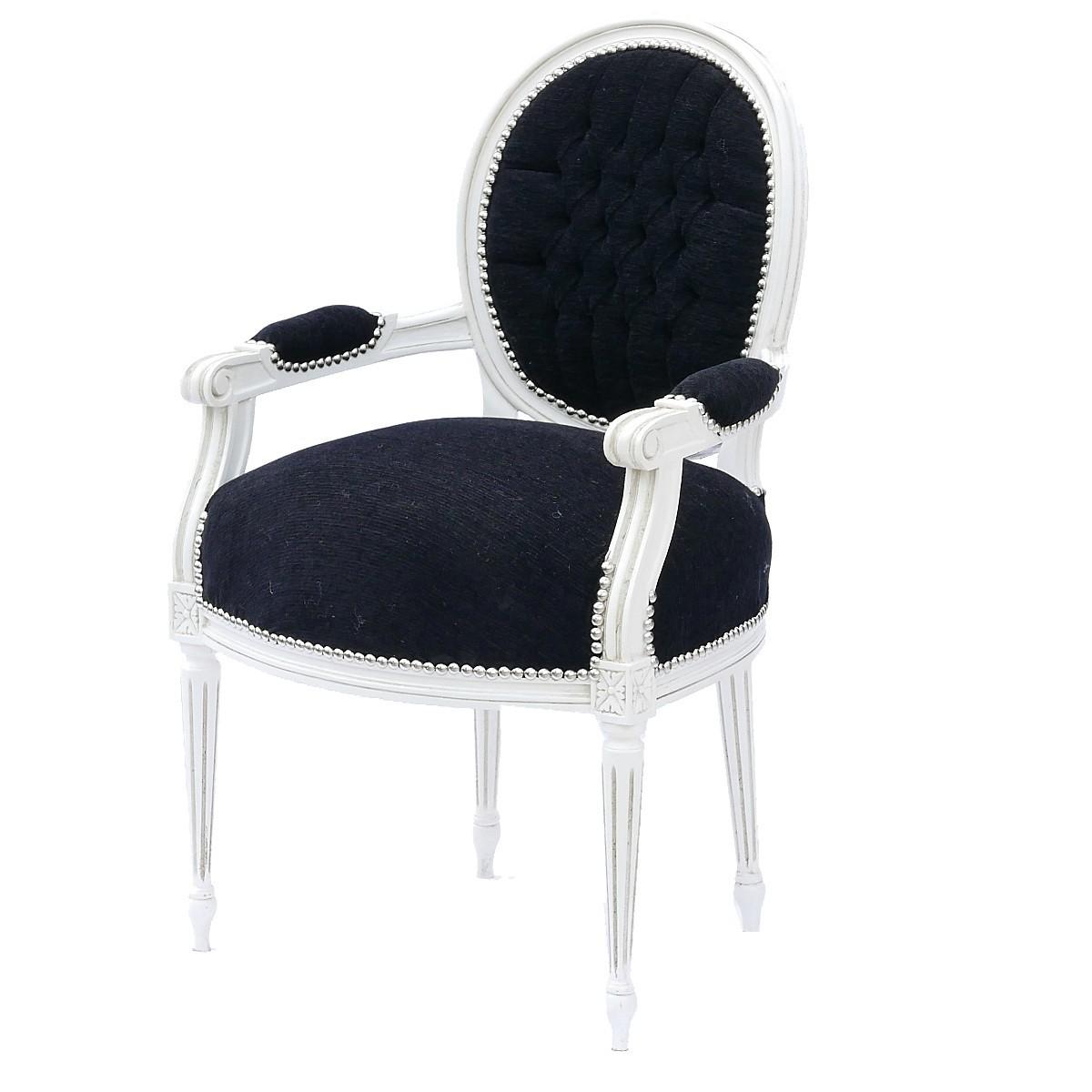 salon stuhl edel barock schwarze sitzfl che aus samtstoff rahmen wei massivholz. Black Bedroom Furniture Sets. Home Design Ideas