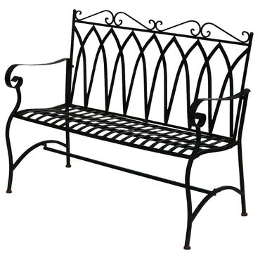 Brown metal Bench for two people for terrace garden – image 4