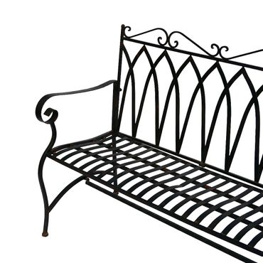 Brown metal Bench for two people for terrace garden – image 3