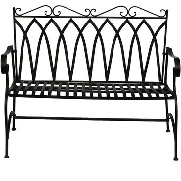 Brown metal Bench for two people for terrace garden – image 1