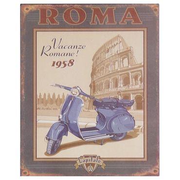 Tin sign ROMA italy rome 1958 nostalgic scooter wall decoration