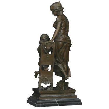 Mother and Child bronze figures statues sculptures decorative Repro bronze sculpture – image 3