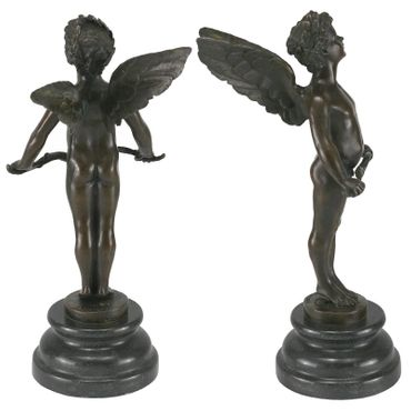 Bronze sculpture of Cupid with love bow – image 4