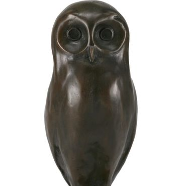 Bronze   Barn Owl figure owl ornament garden   marble collectable – image 4