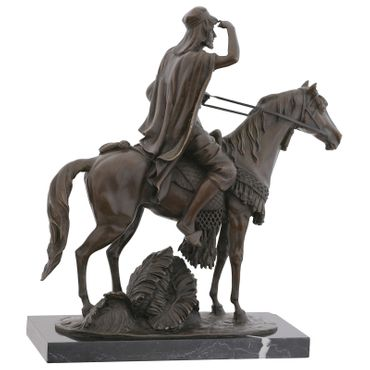 Arabian Rider on Horse Bronze Sculpture as Decoration Figurine – image 4