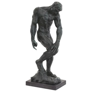 Naked man sensual pose statue as art figure in bronze – image 1