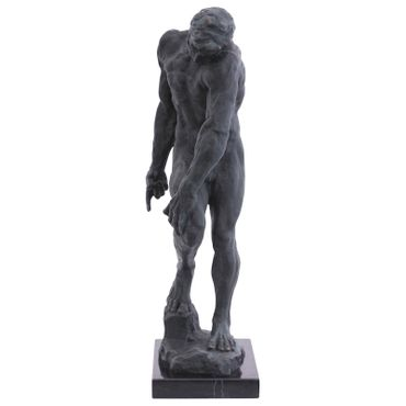 Naked man sensual pose statue as art figure in bronze – image 2