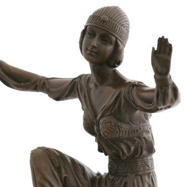 Bloomers dancer exotic bronze sculpture as statue  – image 5