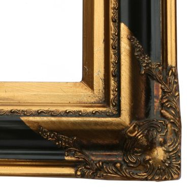 Gold plated bathroom mirror with solid wood crystal glass in antique style – image 4