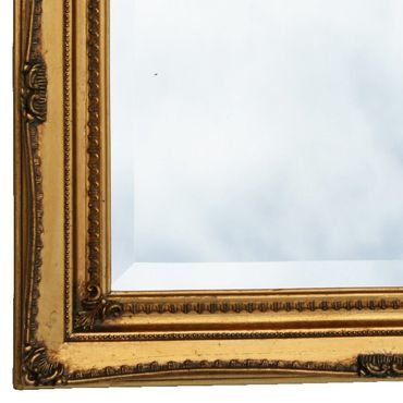 Crystal mirror in antique baroque frame solid wood frame in gold color for wall – image 2