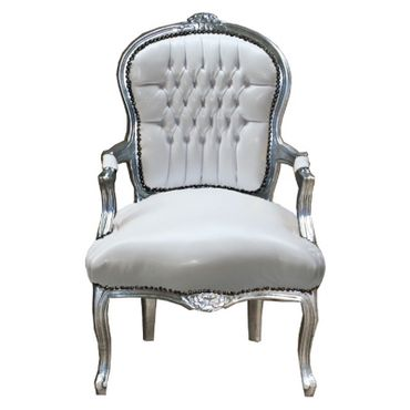 faux leather salon chairs wood white armchair luxury pure shop