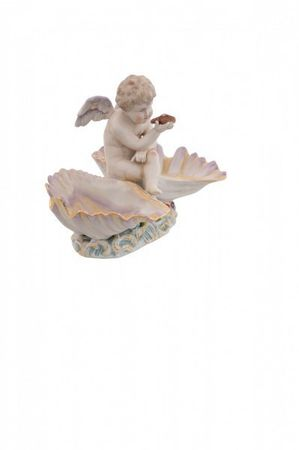 2 piece porcelain bowl angel turkey wings beautiful eye-catcher baroque – image 3
