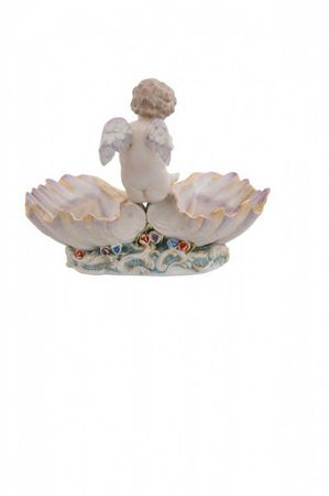 2 piece porcelain bowl angel turkey wings beautiful eye-catcher baroque – image 4
