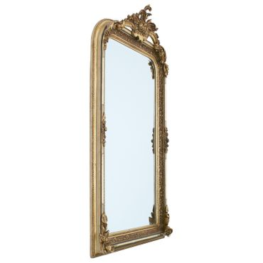 Big pompous luxurious wall mirror with bevelled edge in baroque style – image 2