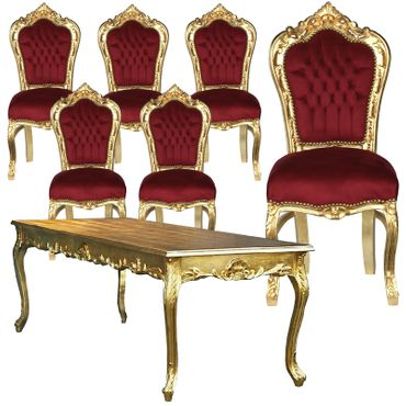 Beautiful Dining Room Set Table & Chairs Hand Crafted – image 1