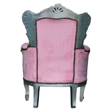 Children Girl Chair antique Style Pink Baroque French – image 4