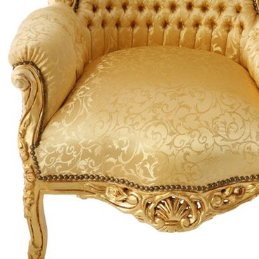Special Edition, throne lovely gold floral pattern, gold-leafed solid wood frame – image 5