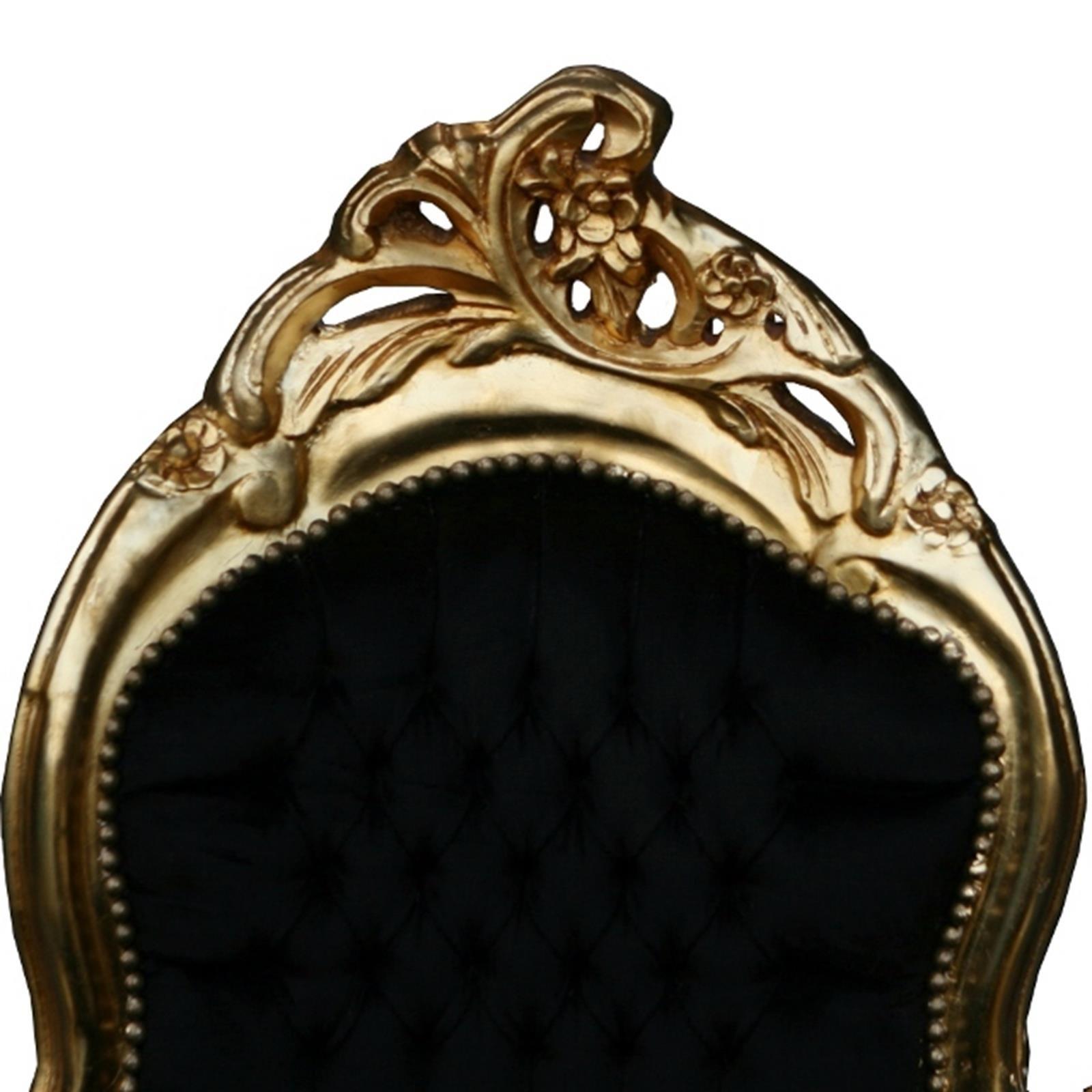 Liebenswert Ottomane Recamiere Dekoration Von Prunkvolles Schwarz Goldenes Kanapee Antiken Barocken Design