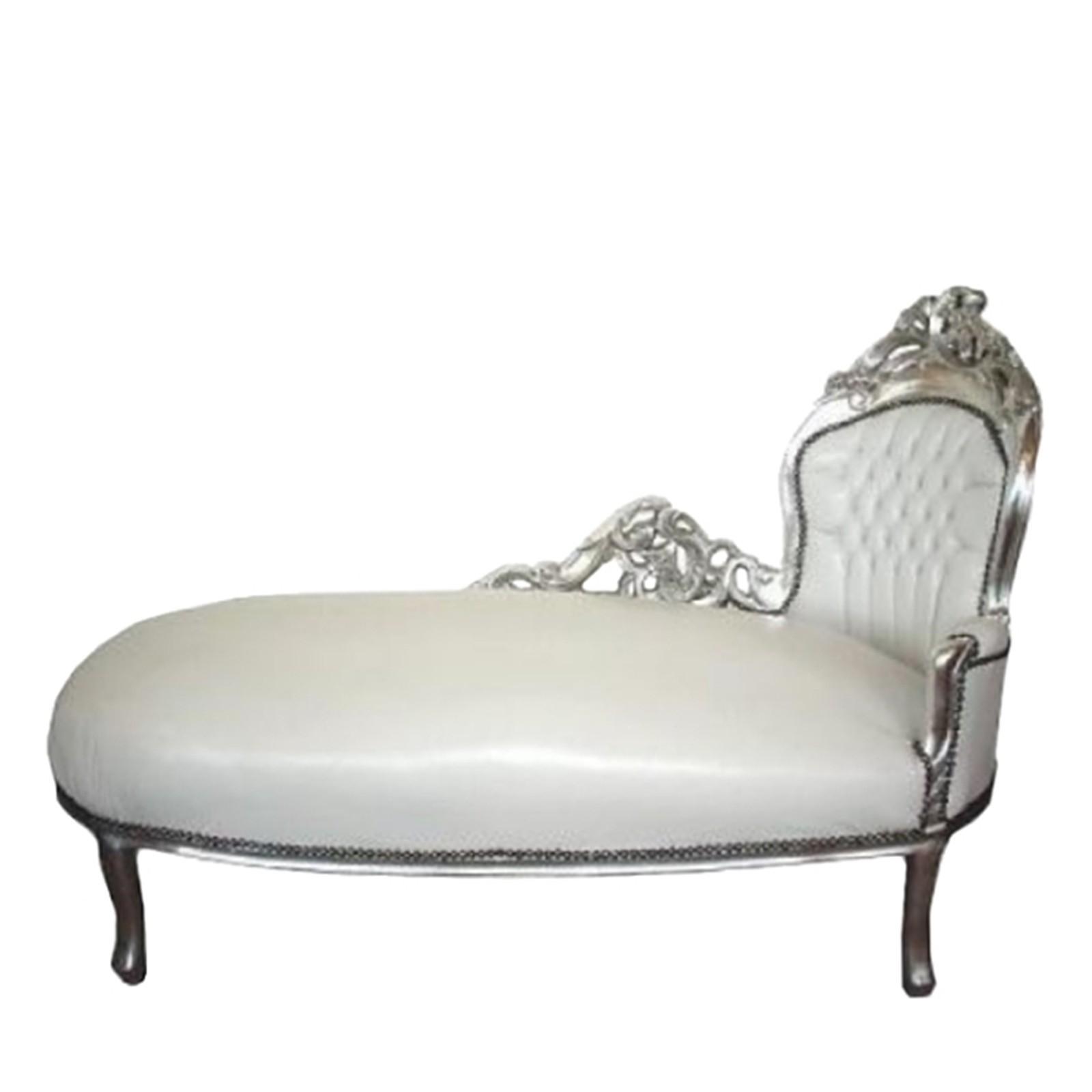 recamiere sofa kanapee liege kunstleder klassisch wei. Black Bedroom Furniture Sets. Home Design Ideas