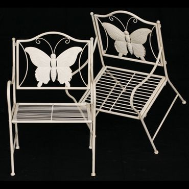 Children furniture nursery furniture metal butterfly white antique courtyard terrace – image 1